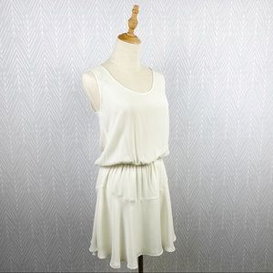 THREE EIGHTY TWO Lila Ruffle Dress in Ivory.